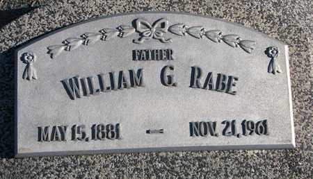 RABE, WILLIAM G. - Cuming County, Nebraska | WILLIAM G. RABE - Nebraska Gravestone Photos