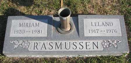 RASMUSSEN, LELAND - Cuming County, Nebraska   LELAND RASMUSSEN - Nebraska Gravestone Photos