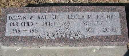 SCHULZ RATHKE, LEOLA M. - Cuming County, Nebraska   LEOLA M. SCHULZ RATHKE - Nebraska Gravestone Photos