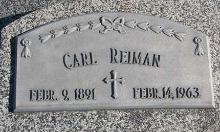 REIMAN, CARL - Cuming County, Nebraska | CARL REIMAN - Nebraska Gravestone Photos