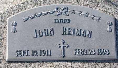REIMAN, JOHN - Cuming County, Nebraska | JOHN REIMAN - Nebraska Gravestone Photos