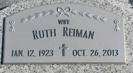 REIMAN, RUTH - Cuming County, Nebraska | RUTH REIMAN - Nebraska Gravestone Photos