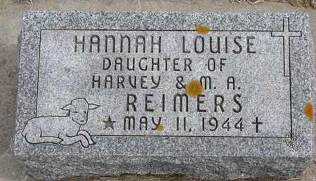 REIMERS, HANNAH LOUISE - Cuming County, Nebraska | HANNAH LOUISE REIMERS - Nebraska Gravestone Photos