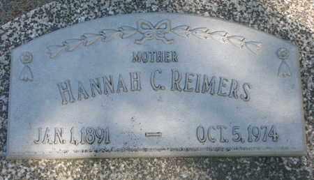 REIMERS, HANNAH C. - Cuming County, Nebraska   HANNAH C. REIMERS - Nebraska Gravestone Photos