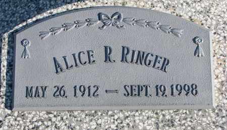 RINGER, ALICE R. - Cuming County, Nebraska   ALICE R. RINGER - Nebraska Gravestone Photos