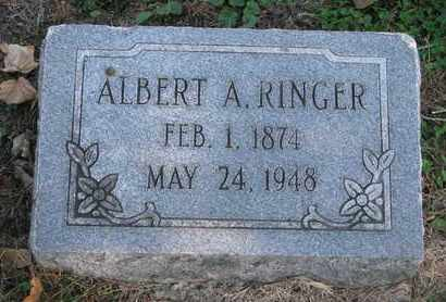 RINGER, ALBERT A. - Cuming County, Nebraska | ALBERT A. RINGER - Nebraska Gravestone Photos