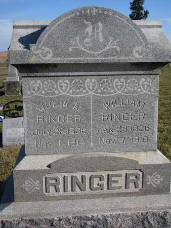 RINGER, WILLIAM - Cuming County, Nebraska | WILLIAM RINGER - Nebraska Gravestone Photos