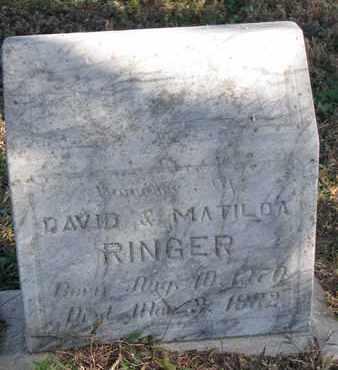 RINGER, LORA - Cuming County, Nebraska | LORA RINGER - Nebraska Gravestone Photos