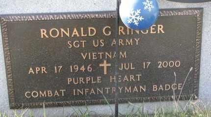 RINGER, RONALD G. (MILITARY MARKER) - Cuming County, Nebraska | RONALD G. (MILITARY MARKER) RINGER - Nebraska Gravestone Photos