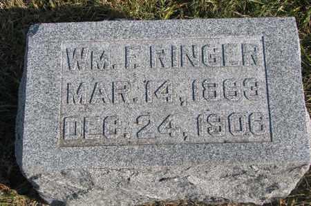 RINGER, WILLIAM F. - Cuming County, Nebraska | WILLIAM F. RINGER - Nebraska Gravestone Photos