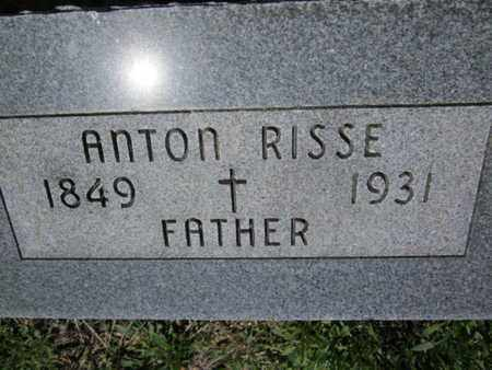 RISSE, ANTON - Cuming County, Nebraska | ANTON RISSE - Nebraska Gravestone Photos