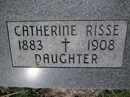 RISSE, CATHERINE - Cuming County, Nebraska | CATHERINE RISSE - Nebraska Gravestone Photos