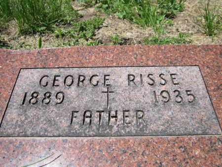 RISSE, GEORGE - Cuming County, Nebraska   GEORGE RISSE - Nebraska Gravestone Photos