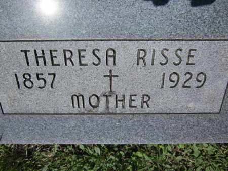 RISSE, THERESA - Cuming County, Nebraska | THERESA RISSE - Nebraska Gravestone Photos