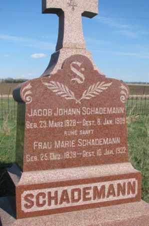 SCHADEMANN, JACOB JOHANN - Cuming County, Nebraska | JACOB JOHANN SCHADEMANN - Nebraska Gravestone Photos