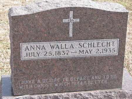 WALLA SCHLECHT, ANNA - Cuming County, Nebraska | ANNA WALLA SCHLECHT - Nebraska Gravestone Photos