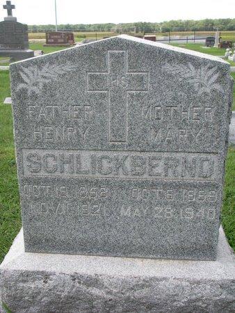 GOEBEL SCHLICKBERND, MARY - Cuming County, Nebraska | MARY GOEBEL SCHLICKBERND - Nebraska Gravestone Photos