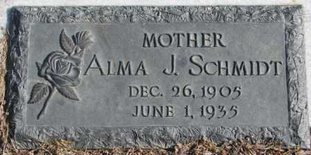 SCHMIDT, ALMA J. - Cuming County, Nebraska | ALMA J. SCHMIDT - Nebraska Gravestone Photos