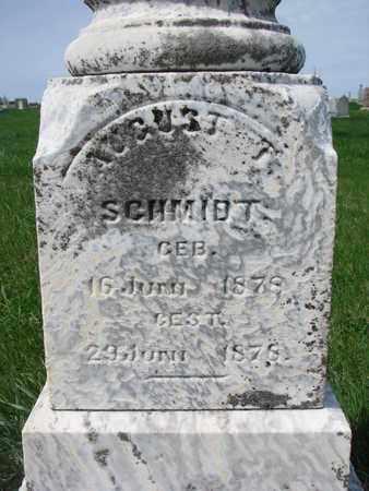 SCHMIDT, AUGUST T. (CLOSE UP) - Cuming County, Nebraska | AUGUST T. (CLOSE UP) SCHMIDT - Nebraska Gravestone Photos