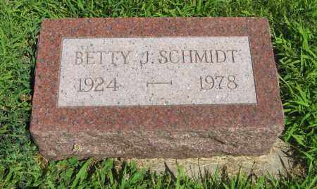 SCHMIDT, BETTY J. - Cuming County, Nebraska | BETTY J. SCHMIDT - Nebraska Gravestone Photos