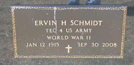 SCHMIDT, ERVIN H. (MILITARY MARKER) - Cuming County, Nebraska | ERVIN H. (MILITARY MARKER) SCHMIDT - Nebraska Gravestone Photos