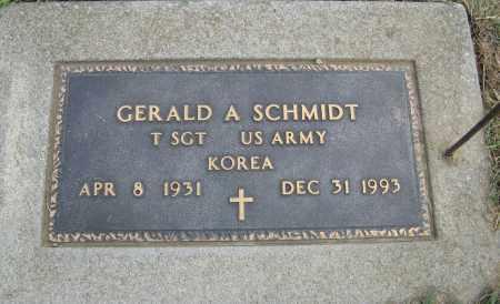 SCHMIDT, GERALD A. (MILITARY MARKER) - Cuming County, Nebraska   GERALD A. (MILITARY MARKER) SCHMIDT - Nebraska Gravestone Photos