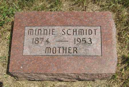 SCHMIDT, MINNIE - Cuming County, Nebraska   MINNIE SCHMIDT - Nebraska Gravestone Photos