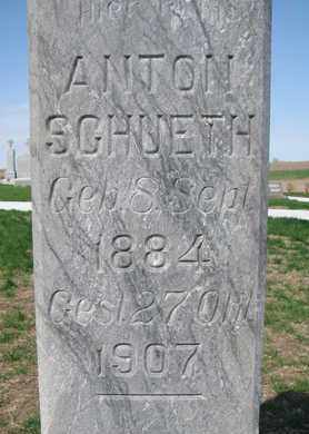 SCHUETH, ANTON (CLOSE UP) - Cuming County, Nebraska | ANTON (CLOSE UP) SCHUETH - Nebraska Gravestone Photos
