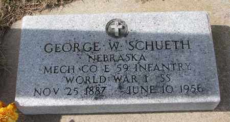 SCHUETH, GEORGE W. - Cuming County, Nebraska | GEORGE W. SCHUETH - Nebraska Gravestone Photos