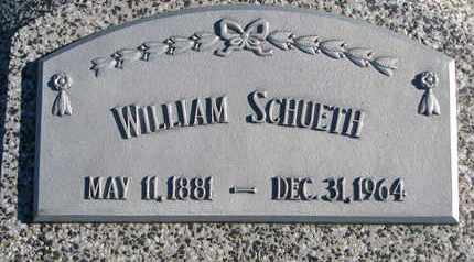 SCHUETH, WILLIAM #2 - Cuming County, Nebraska | WILLIAM #2 SCHUETH - Nebraska Gravestone Photos