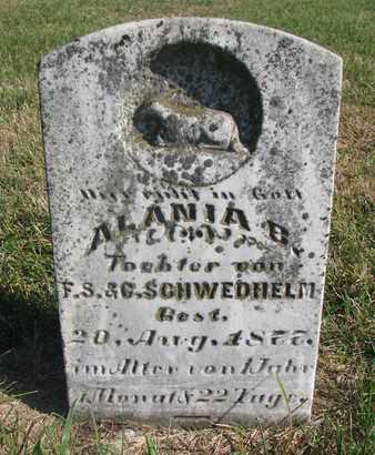 SCHWEDHELM, ALANIA B. - Cuming County, Nebraska | ALANIA B. SCHWEDHELM - Nebraska Gravestone Photos