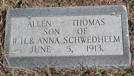 SCHWEDHELM, ALLEN THOMAS - Cuming County, Nebraska | ALLEN THOMAS SCHWEDHELM - Nebraska Gravestone Photos