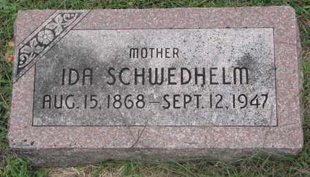 SCHWEDHELM, IDA - Cuming County, Nebraska | IDA SCHWEDHELM - Nebraska Gravestone Photos