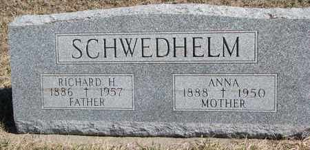 SCHWEDHELM, RICHARD H. - Cuming County, Nebraska | RICHARD H. SCHWEDHELM - Nebraska Gravestone Photos