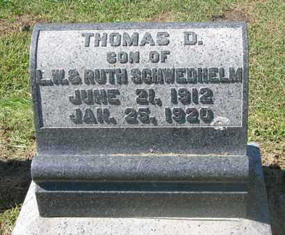 SCHWEDHELM, THOMAS D. - Cuming County, Nebraska | THOMAS D. SCHWEDHELM - Nebraska Gravestone Photos