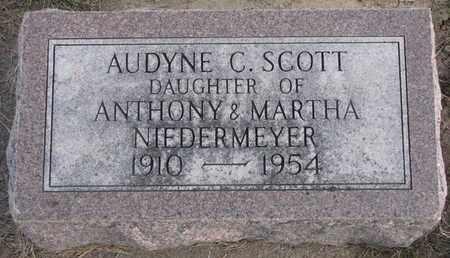 SCOTT, AUDYNE C. - Cuming County, Nebraska | AUDYNE C. SCOTT - Nebraska Gravestone Photos