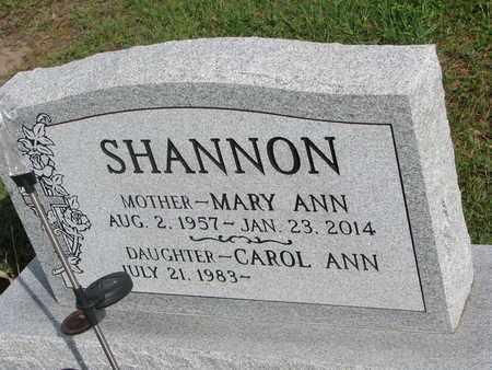SHANNON, MARY ANN - Cuming County, Nebraska   MARY ANN SHANNON - Nebraska Gravestone Photos