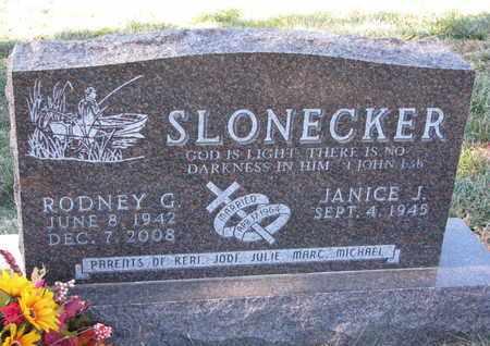 SLONECKER, JANICE J. - Cuming County, Nebraska | JANICE J. SLONECKER - Nebraska Gravestone Photos