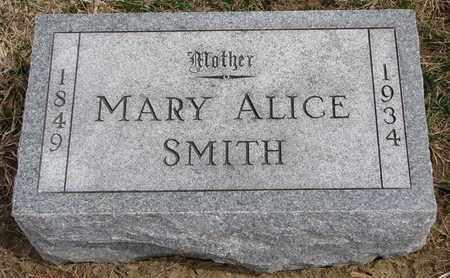 SMITH, MARY ALICE - Cuming County, Nebraska | MARY ALICE SMITH - Nebraska Gravestone Photos