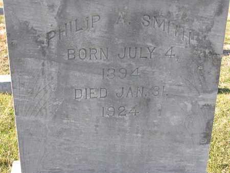 SMITH, PHILIP A. (CLOSEUP) - Cuming County, Nebraska   PHILIP A. (CLOSEUP) SMITH - Nebraska Gravestone Photos