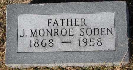 SODEN, J. MONROE - Cuming County, Nebraska | J. MONROE SODEN - Nebraska Gravestone Photos