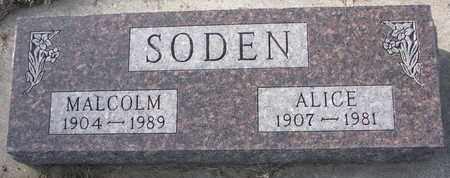 SODEN, ALICE - Cuming County, Nebraska   ALICE SODEN - Nebraska Gravestone Photos
