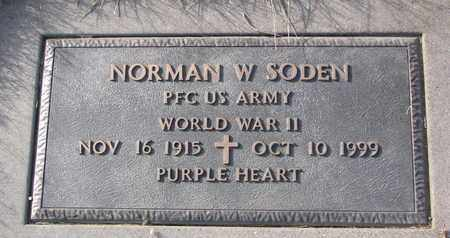 SODEN, NORMAN W. (MILITARY MARKER) - Cuming County, Nebraska | NORMAN W. (MILITARY MARKER) SODEN - Nebraska Gravestone Photos