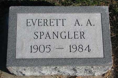 SPANGLER, EVERETT A.A. - Cuming County, Nebraska   EVERETT A.A. SPANGLER - Nebraska Gravestone Photos