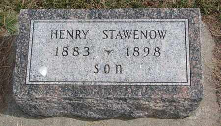 STAWENOW, HENRY - Cuming County, Nebraska | HENRY STAWENOW - Nebraska Gravestone Photos