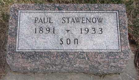 STAWENOW, PAUL - Cuming County, Nebraska | PAUL STAWENOW - Nebraska Gravestone Photos