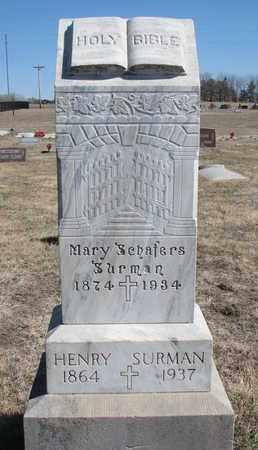 SURMAN, MARY - Cuming County, Nebraska   MARY SURMAN - Nebraska Gravestone Photos