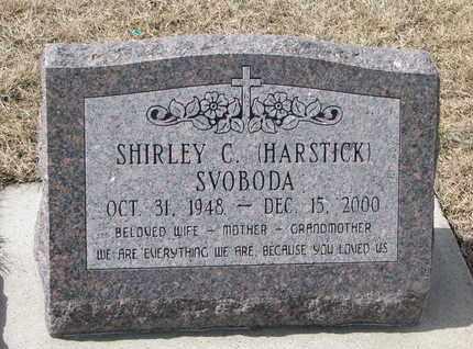 HARSTICK SVOBODA, SHIRLEY C. - Cuming County, Nebraska | SHIRLEY C. HARSTICK SVOBODA - Nebraska Gravestone Photos