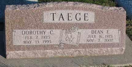TAEGE, DEAN E. - Cuming County, Nebraska   DEAN E. TAEGE - Nebraska Gravestone Photos