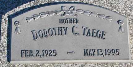 TAEGE, DOROTHY C. - Cuming County, Nebraska | DOROTHY C. TAEGE - Nebraska Gravestone Photos
